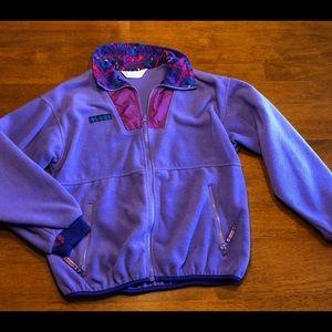 Vintage Columbia fleece purple pink teal